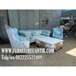 Set Sofa Tamu Mewah Minimalis Ukiran Cantik