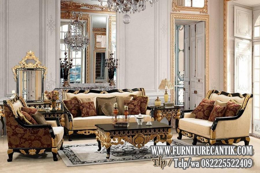 Kursi Sofa Ruang Tamu Mewah Kayu Jati Ukiran