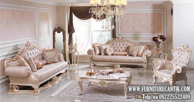 Sofa Ruang Tamu Mewah Ukiran Terbaru Jepara