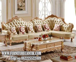 Sofa Tamu Sudut Mewah Ukiran Jepara Terbaru