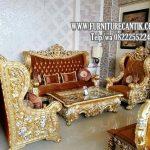Sofa Tamu Ukiran Mewah Model Istana Negara