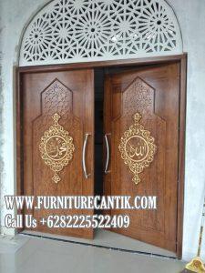 Pintu Utama Masjid Kayu Jati Solid