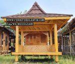Gazebo Taman Mewah Kayu Jati