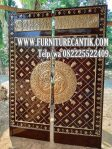 Pintu Masjid Kayu Jati Motif Nabawi