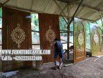 Pintu Masjid Kayu Jati Motif Ukiran
