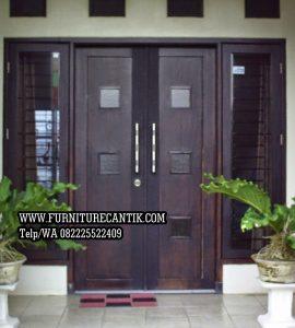 Pintu Rumah Minimalis Modern Jati
